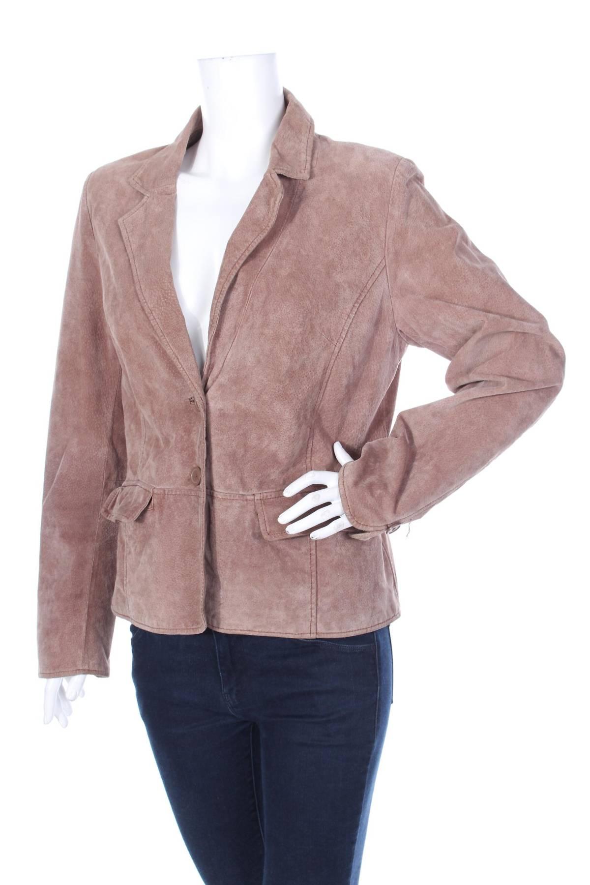 Дамско кожено сако Now1
