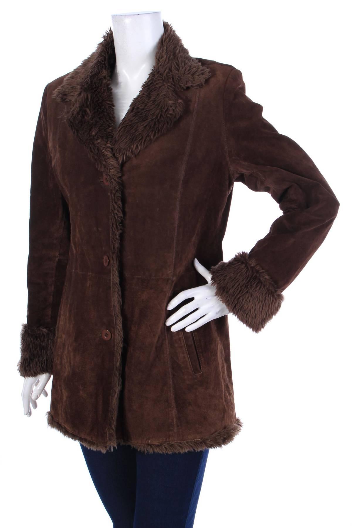 Дамско кожено палто Biaggini3