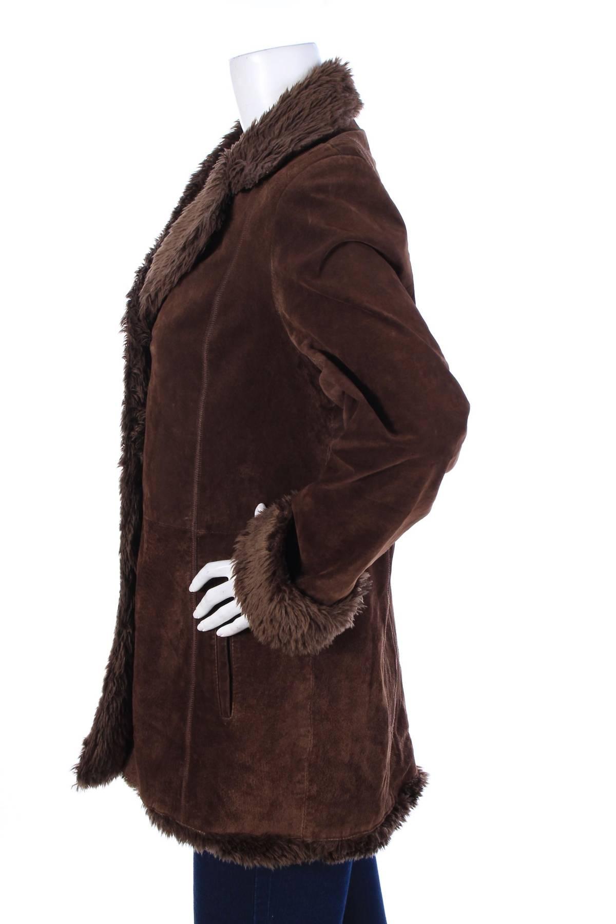 Дамско кожено палто Biaggini4