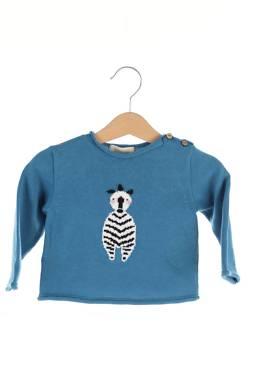 Детски пуловер Bonnet a pompon by Guillermina Baeza1